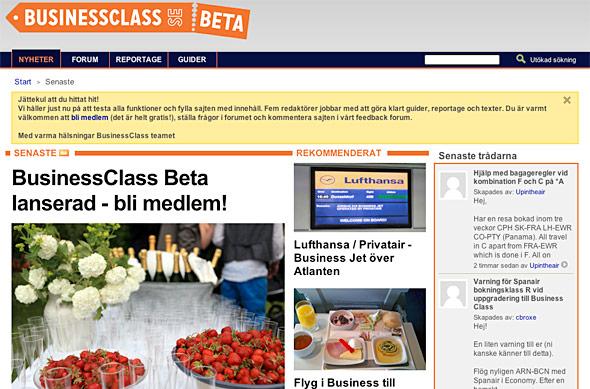 Webbtips: Businessclass.se