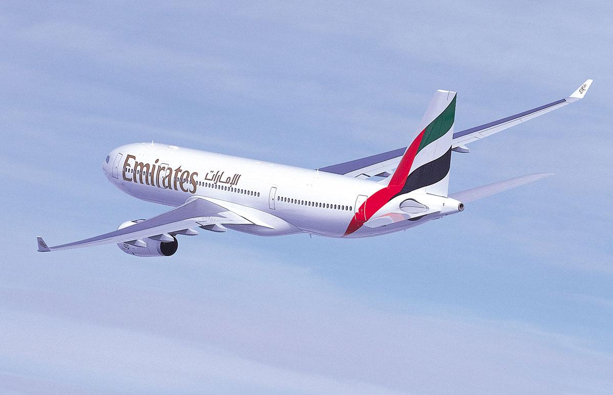Emirates flyger Arlanda - Dubai