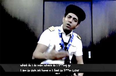 Förbannad indisk pilot rappar om flygbolaget
