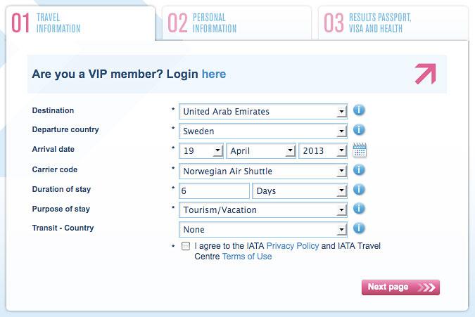 IATA ger pålitlig information om visum på webben