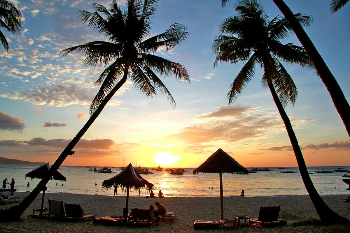 Boracay solnedgång